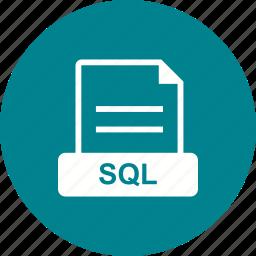 database, file, format, sql icon
