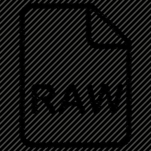 document, file, raw icon