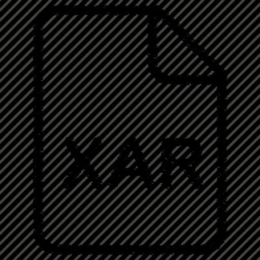 document, file, xar icon