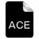ace, document, file, format, type icon