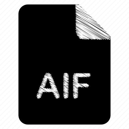 aif, document, file, format, type icon