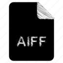aiff, document, file icon
