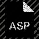 asp, document, file icon