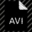 avi, document, file