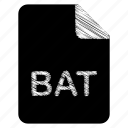 bat, document, file, format, type icon