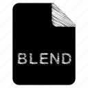 blend, document, file icon