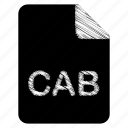 cab, document, file icon