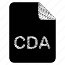 cda, document, file, format, type icon