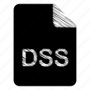 document, dss, file icon