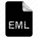 document, eml, file icon