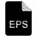 document, eps, file icon