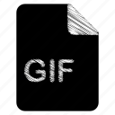 document, file, gif