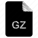 document, file, gz icon