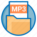 document, extension, file, mp3