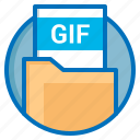 document, extension, file, gif