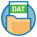 dat, document, extension, file icon