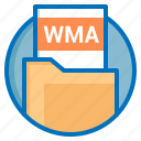 document, extension, file, wma icon