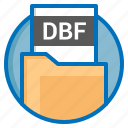 dbf, document, extension, file