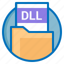 dll, document, extension, file icon