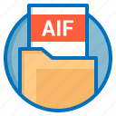 aif, document, extension, file icon