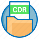 cdr, corel, corel draw, document, extension, file icon