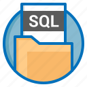 document, extension, file, sql icon