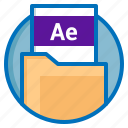 ae, after effects, document, extension, file