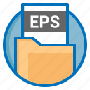 document, eps, extension, file icon