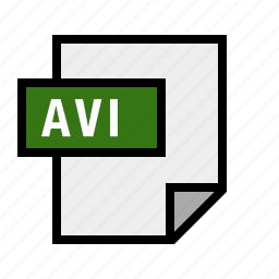 avi, document, file, filetype, video icon