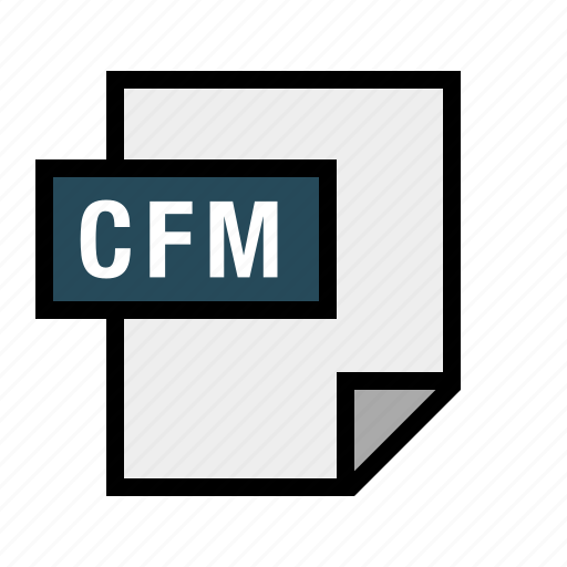 cfm, coldfusion, document, file, filetype icon