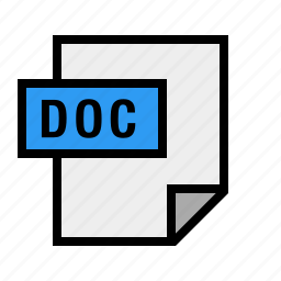 doc, document, file, filetype, word icon
