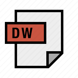 document, dreamweaver, dw, file, filetype icon