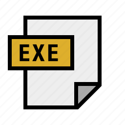 document, exe, executable, file, filetype icon