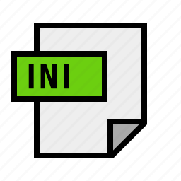 config, document, file, filetype, ini icon
