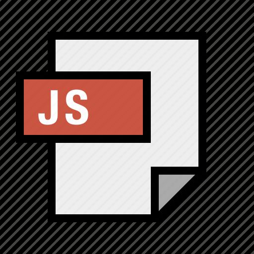 document, file, filetype, javascript, js icon
