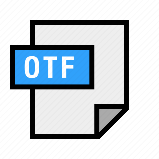 document, file, filetype, font, otf icon