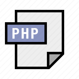document, file, filetype, php icon