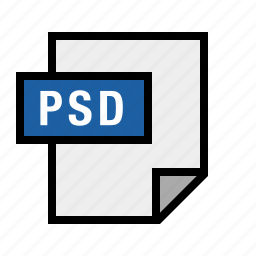 document, file, filetype, psd icon