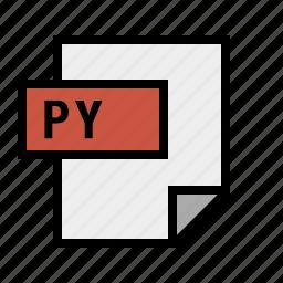 document, file, filetype, py, python icon