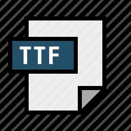 document, filetype, font, ttf icon
