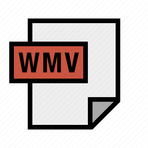 document, file, filetype, wmv icon