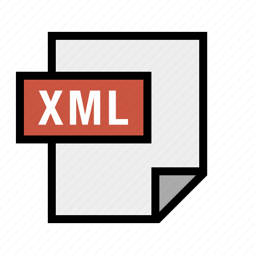 document, file, filetype, xml icon