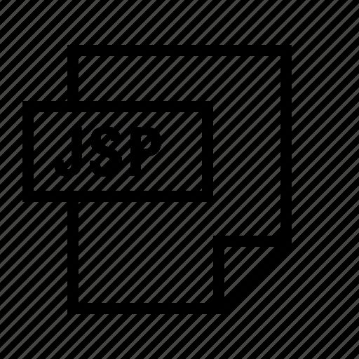 document, file, filetype, java, jsp icon