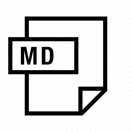 document, file, filetype, markdown, md icon