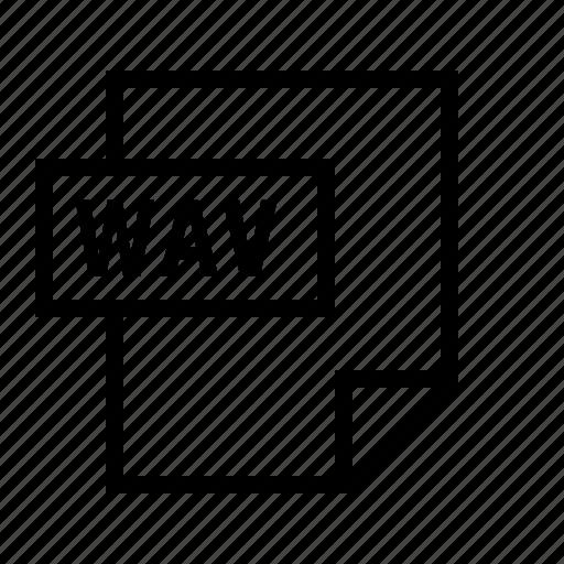document, file, filetype, wav icon
