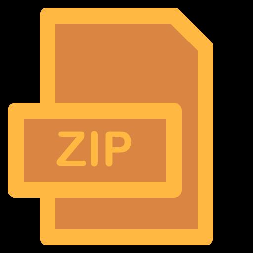 document, file, format, type, zip icon