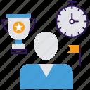 achievement goals, business goals, business plan, success goals, winning plan icon