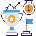 accomplishment, achievement, business goal, success, trade goal icon