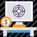 business target, consumer target, market target, target audience, target customers icon