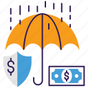 business insurance, financial insurance, money insurance, money protection, safe investment icon